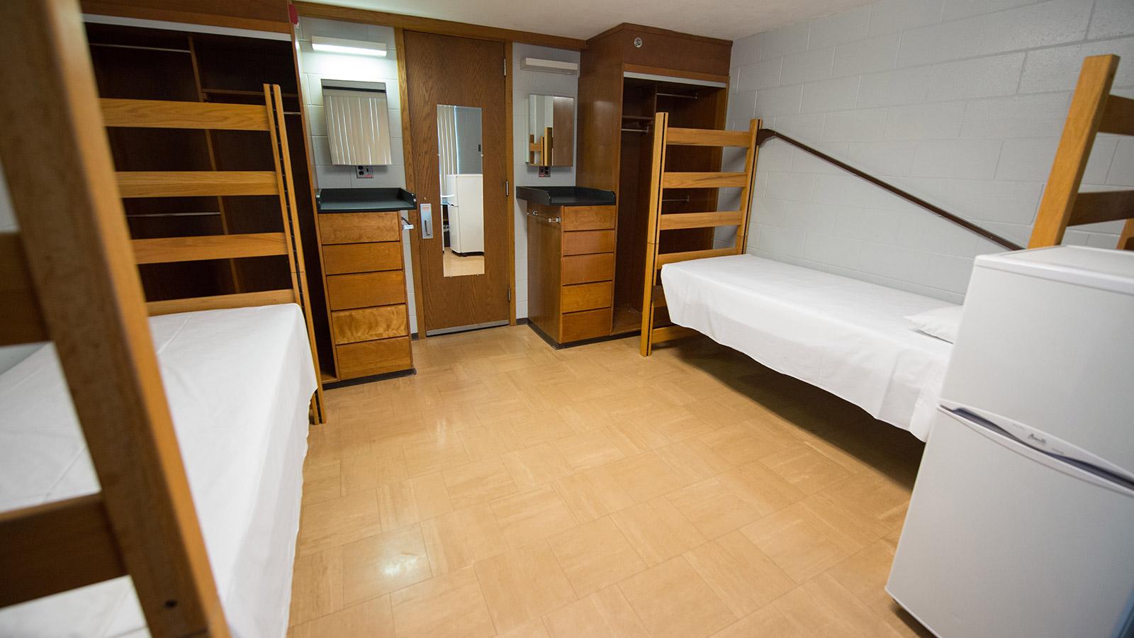 Harper Hall double room setup.