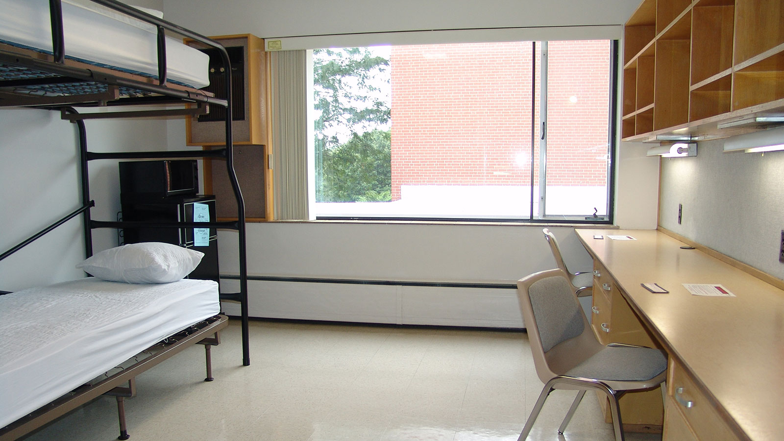 Burr Residence Hall interior of room.