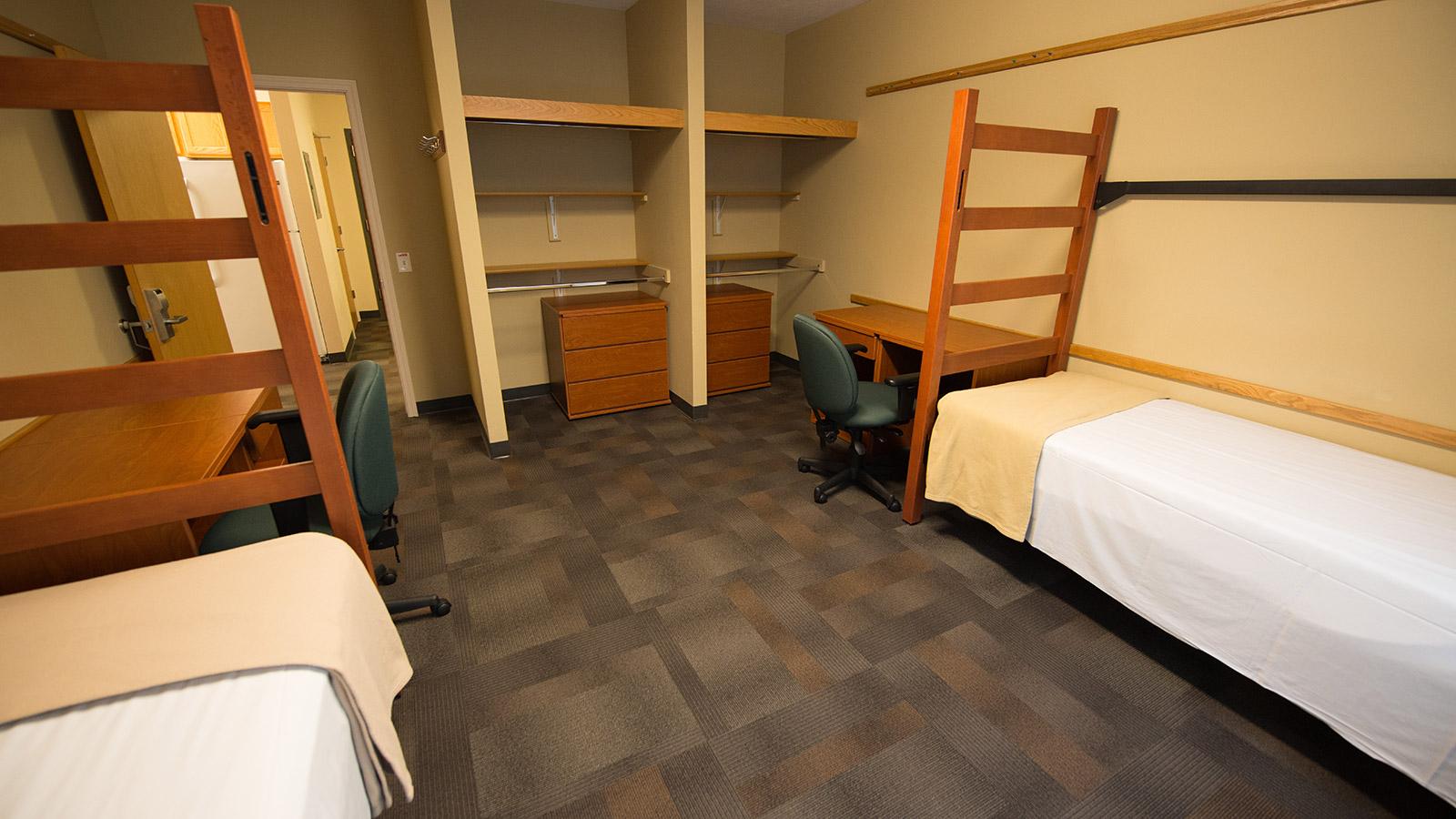 Interior of double room.