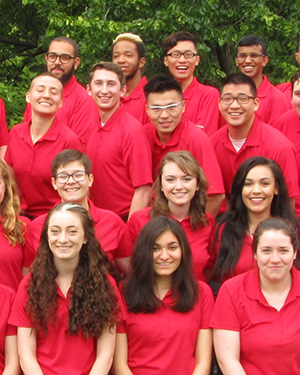 Cropped photo of a group of Conference Assistants.