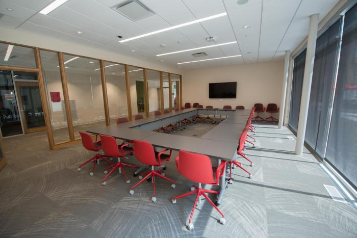 Conference Room with Flat Screen TV.