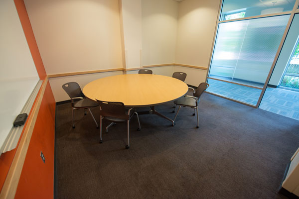 Large room with conference table.