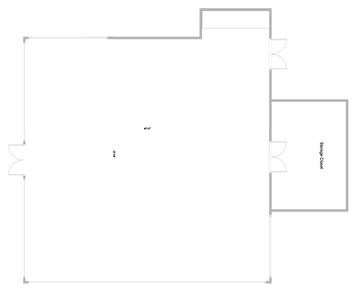 Aerial line drawing of Maris' lounge space.