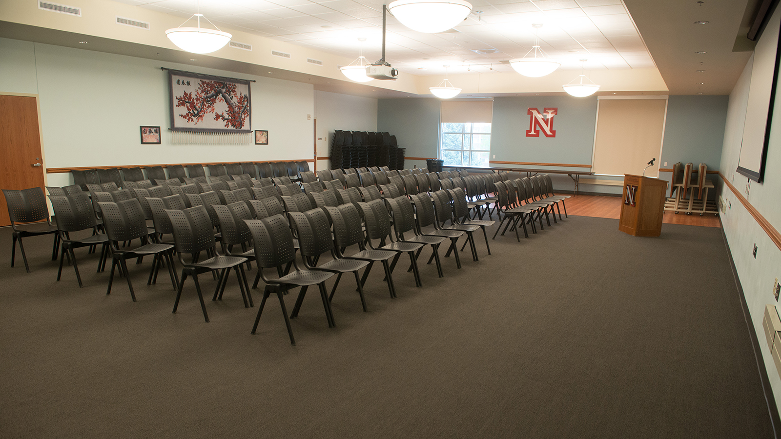 Large meeting room in Gaughan Center.