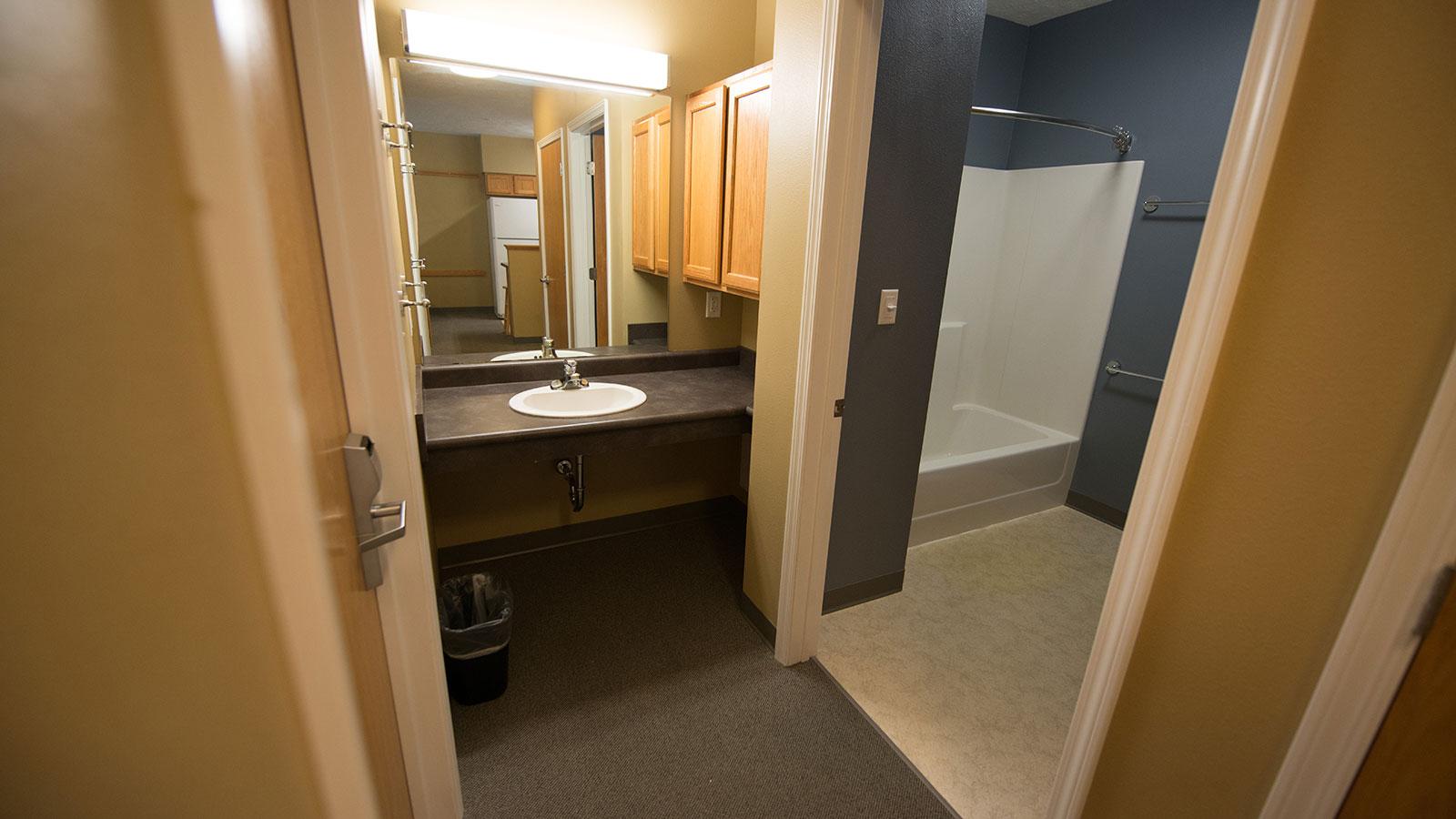 Village interior showing bathroom.