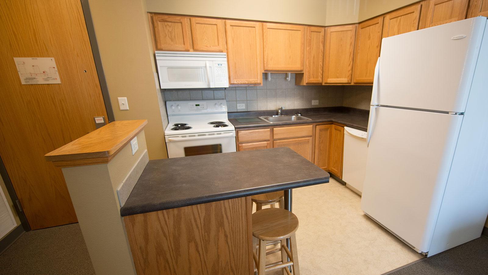 Village kitchen interior.